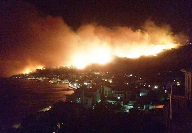 Лесные пожары бушуют наберегу Адриатики вХорватии иЧерногории