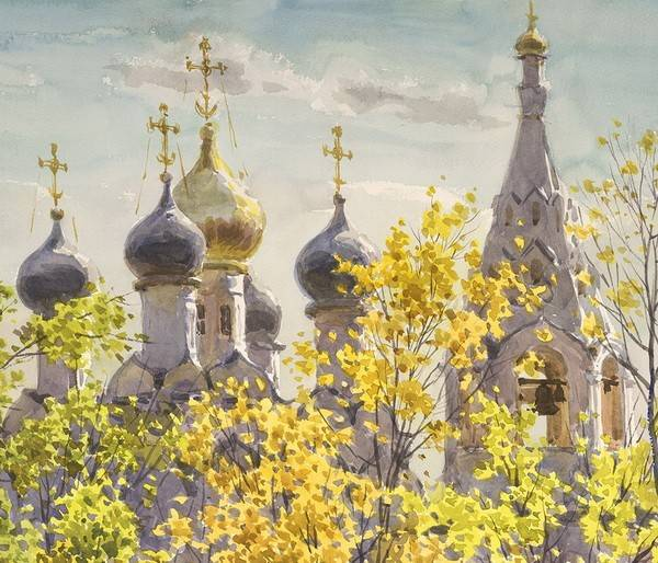Московский художник Сергей Андрияка покажет вВоронеже акварельные храмы